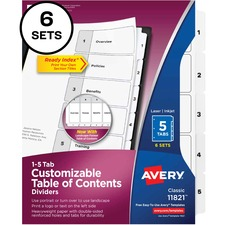 Avery Ready Index 5