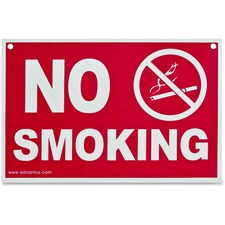 No Smoking W Sign