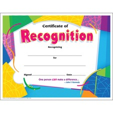 Certificate of Reco